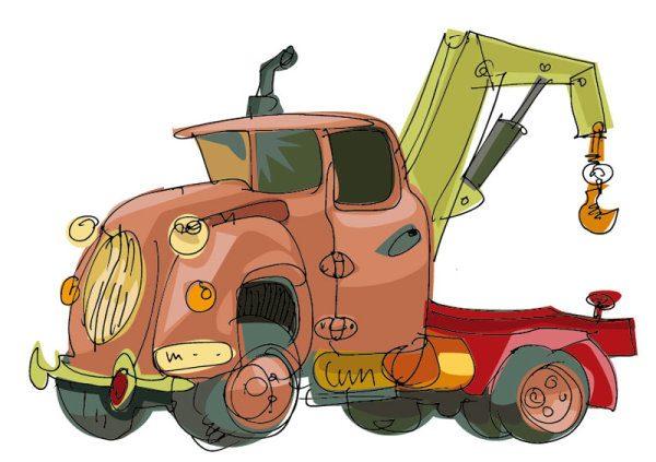 Lovely Hand draw Cartoon car vector set 04