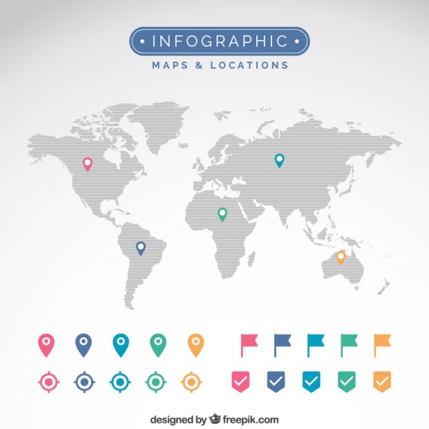 Maps and locations infographic  Vector | Free Download