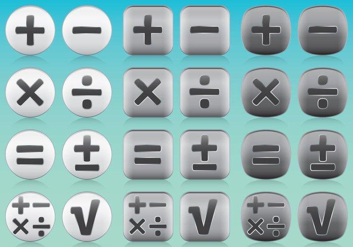 Math App Icon Vectors