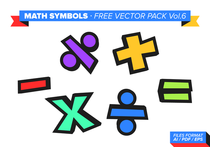 Math Symbols Free Vector Pack Vol. 6