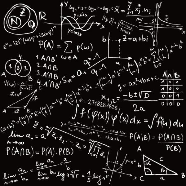 Mathematical formula Handwritten edition 02 vector