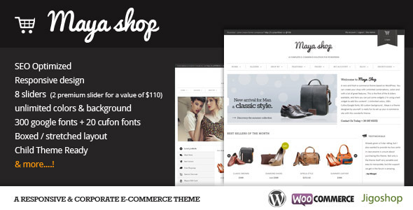 MayaShop – A Flexible Responsive e-Commerce Theme – WordPress