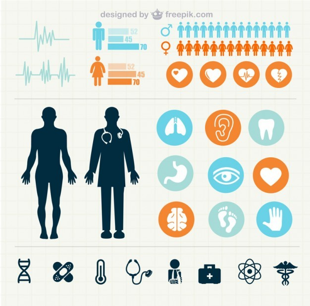 Medical statistics infographics   Vector | Free Download