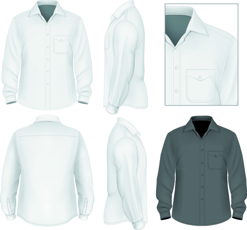 Men clothes design template vector set 07