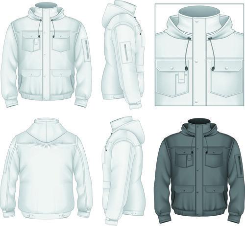Men clothes design template vector set 06