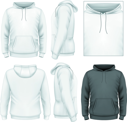 Men clothes design template vector set 04