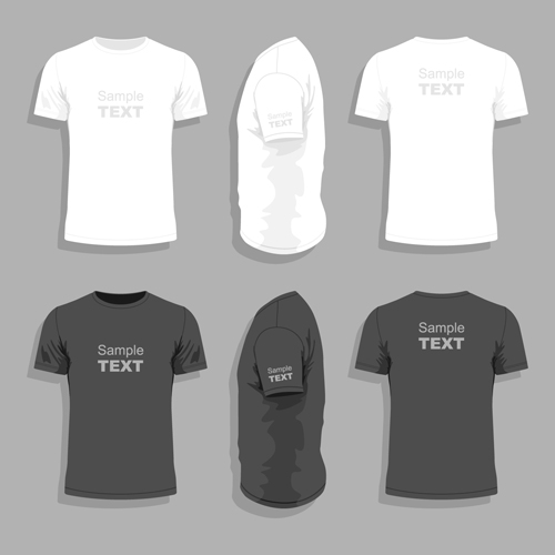 Men clothes design template vector set 08