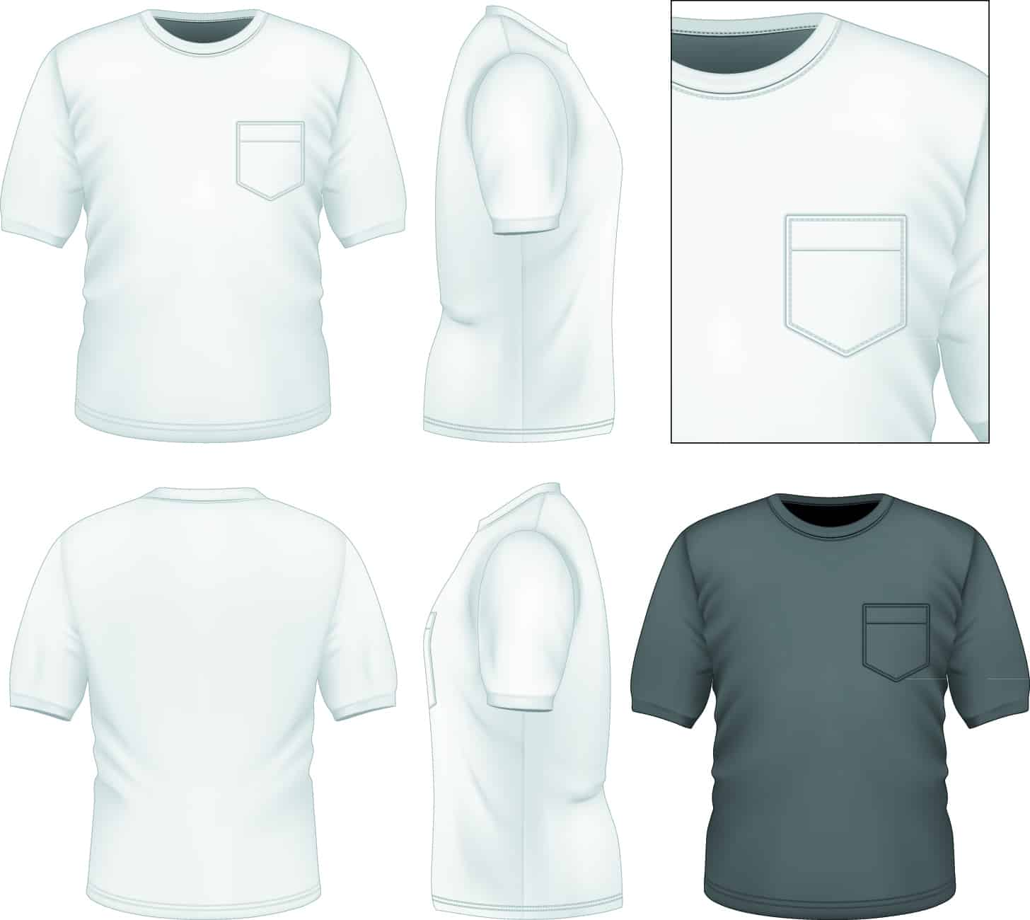 Men clothes design template vector set 01