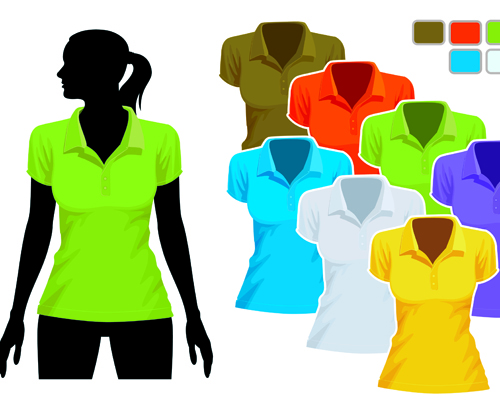 Mens and womens clothing design elements 01