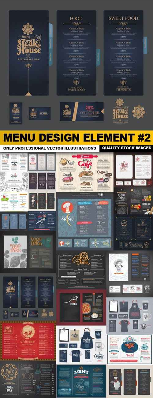 Menu Design Element #2 – 25 Vector