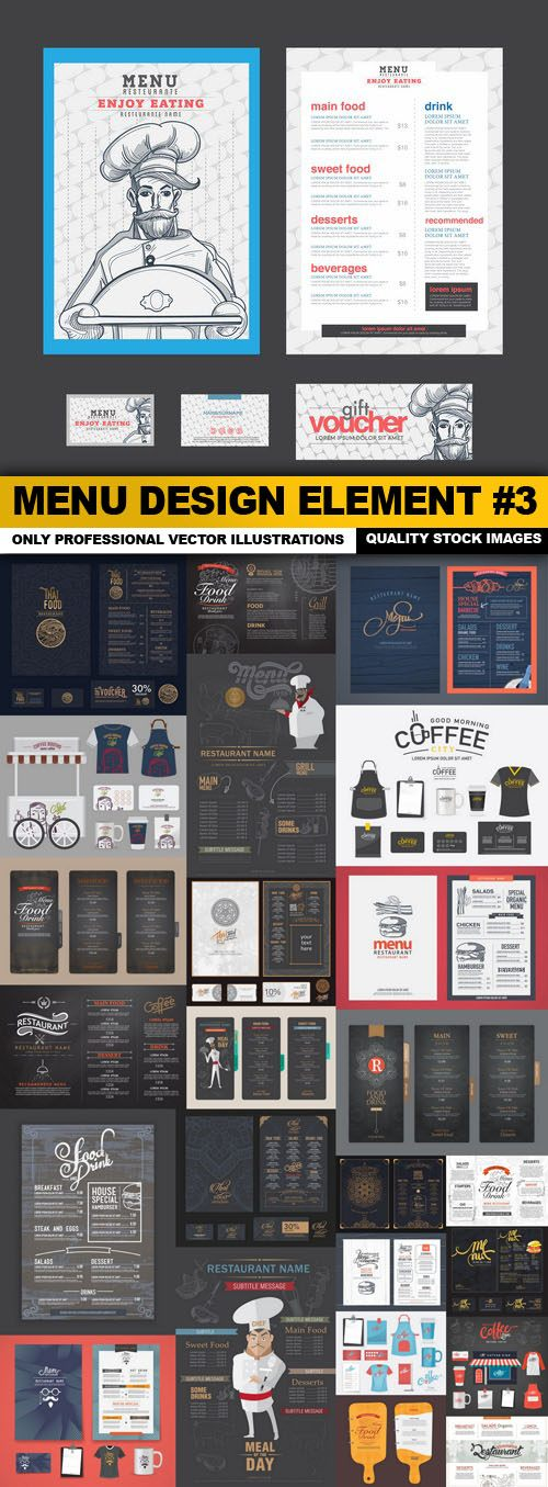 Menu Design Element #3 – 25 Vector