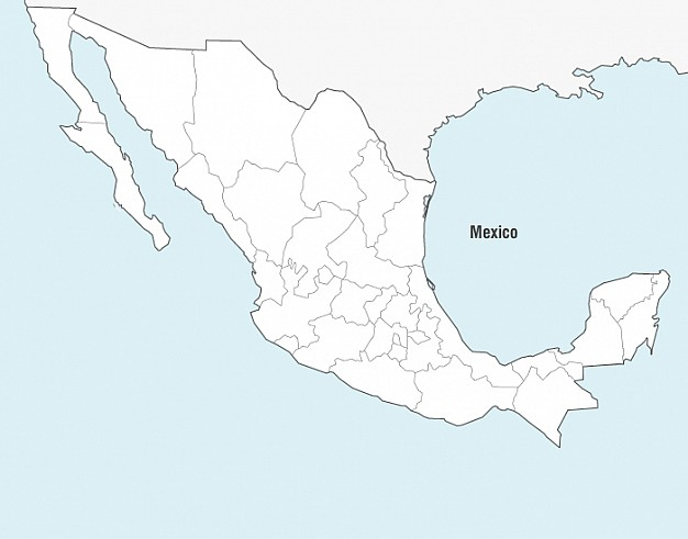 Mexico Map Vector  Vector | Free Download