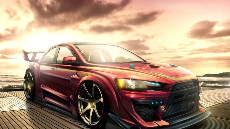 Mitsubishi Lancer Tuning HD Wallpaper