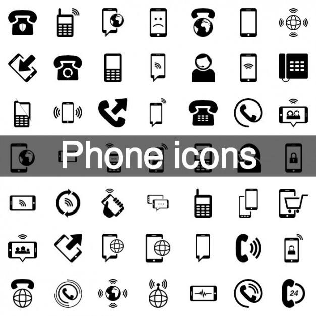 Mobile phone icon set  Vector | Free Download