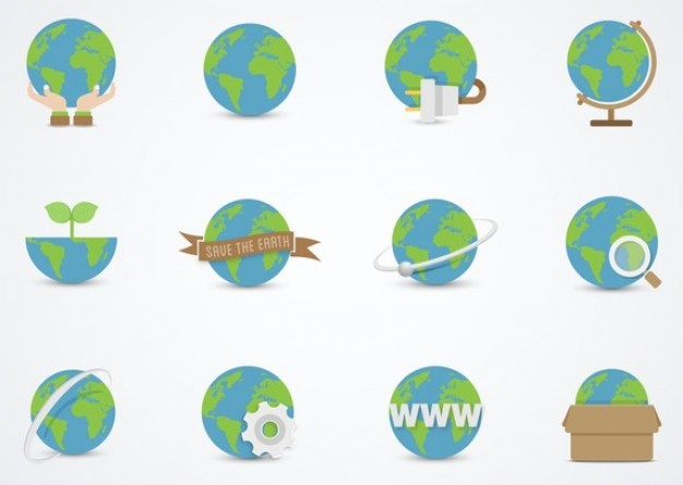 Moder earth gloves vector set  Vector | Free Download