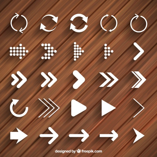 Modern arrows and reload icons  Vector | Free Download