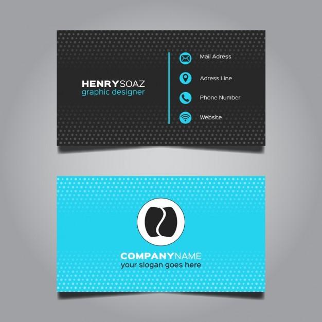Modern Blue Business Card Design  Vector | Free Download
