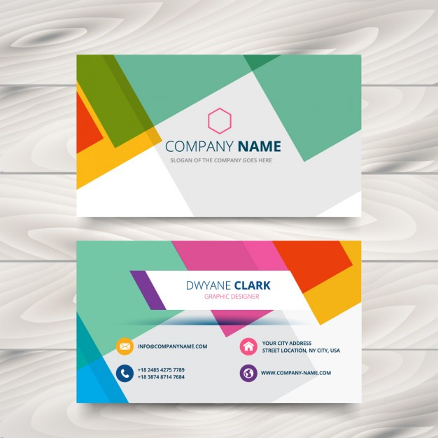 modern colorful business card  Vector | Free Download