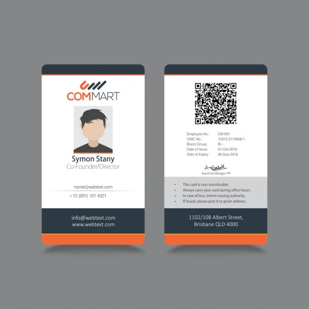 Modern simple ID Corporate identity Vector | Free Download