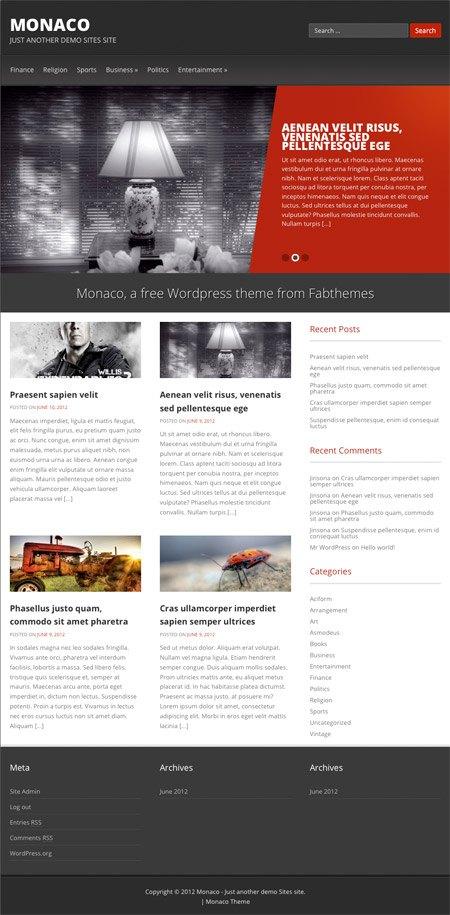 Monaco WordPress Themes