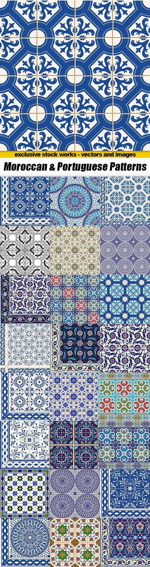 Moroccan & Portuguese Patterns – 25xEPS