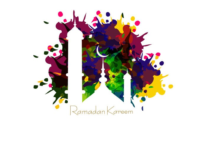Mosque On Ramadan Kareem Card