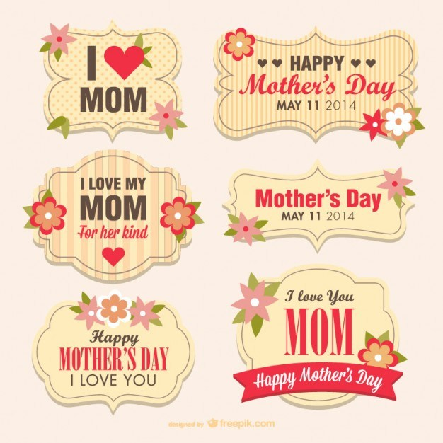Mother's day flower banners  Vector | Free Download