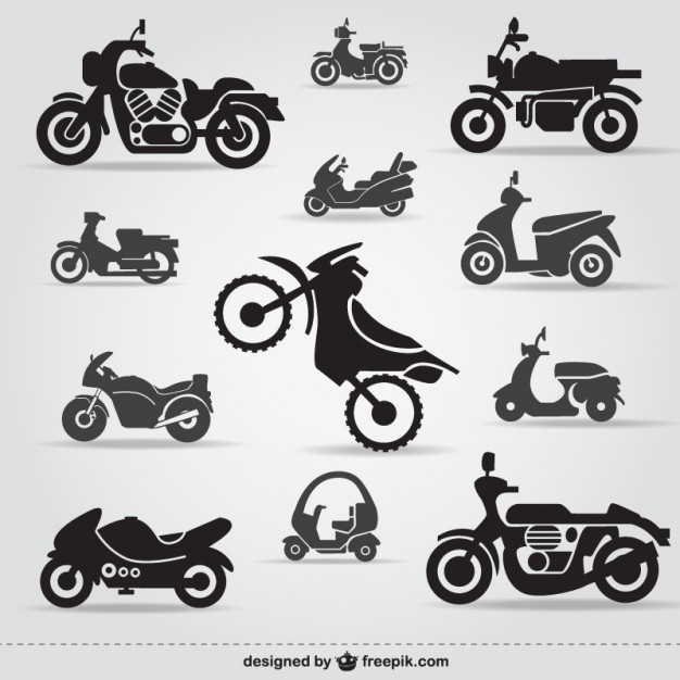 Motorcycle icons free  Vector | Free Download