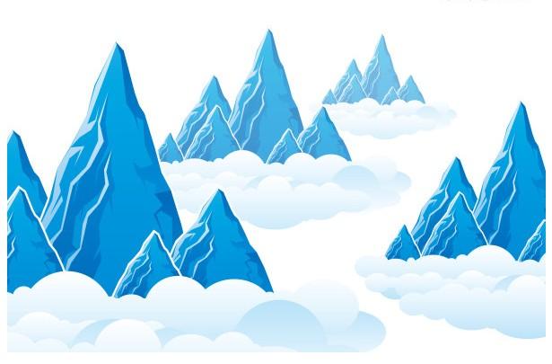 Mountain Cloud Landscape vector graphics