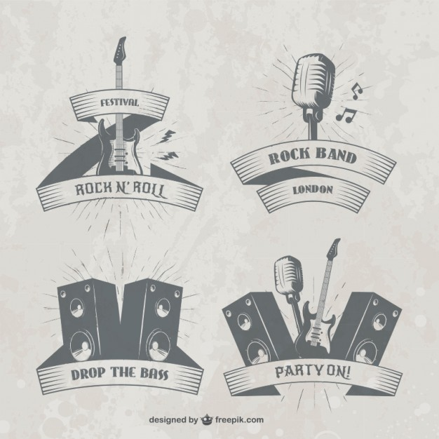 Music festival badges