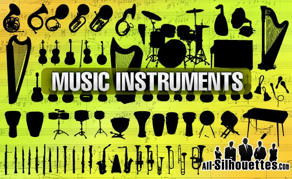 Music Instruments – All-Silhouettes