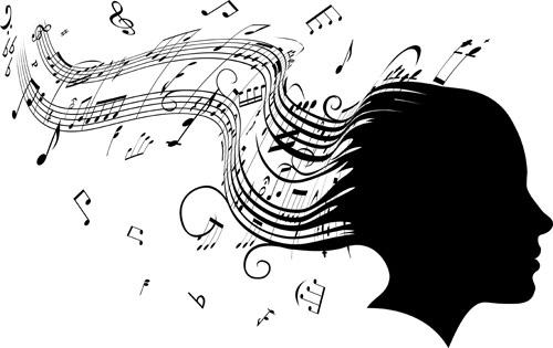 music Note and People vector 05