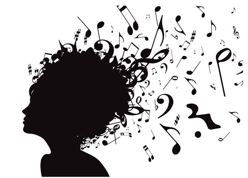 music Note and People vector 02