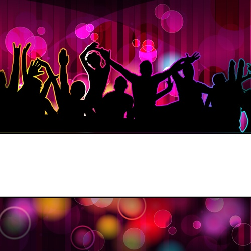 Music Party Backgrounds vector 01