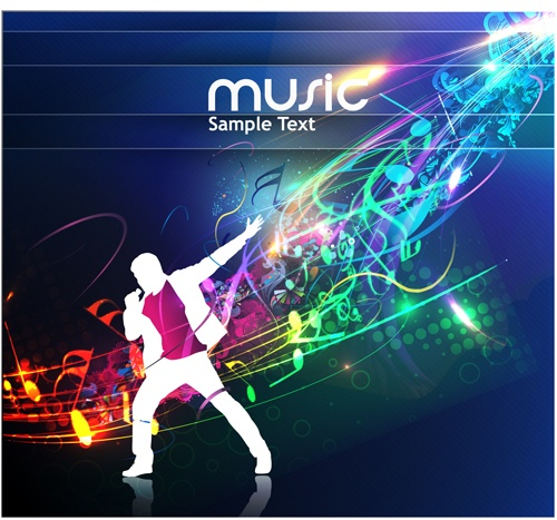Music Party – vector Backgrounds part 02
