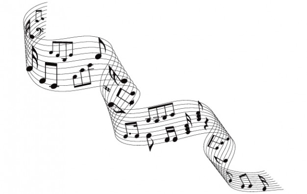 musical notes wave in stylish vector elemwnts  Vector | Free Download
