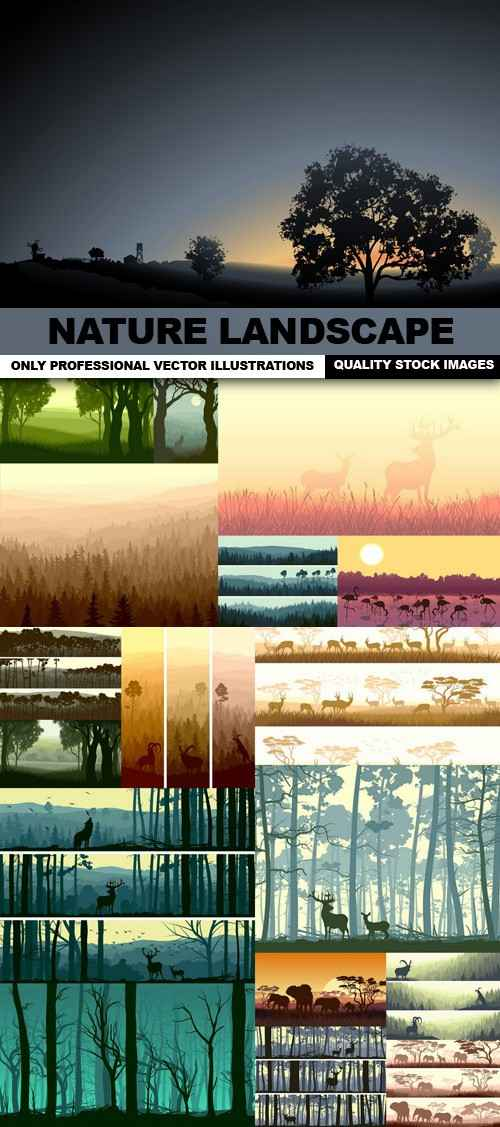 Nature Landscape – 25 Vector