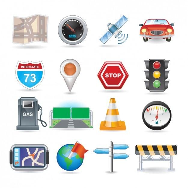 Navigation Icon Set  Vector   Free Download