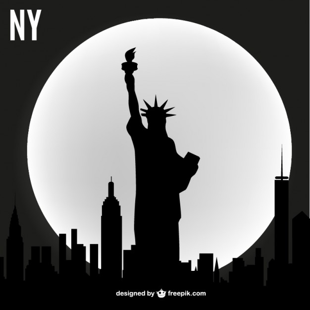New york vector skyline