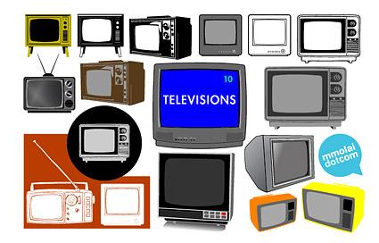 Nostalgia TV Vector material