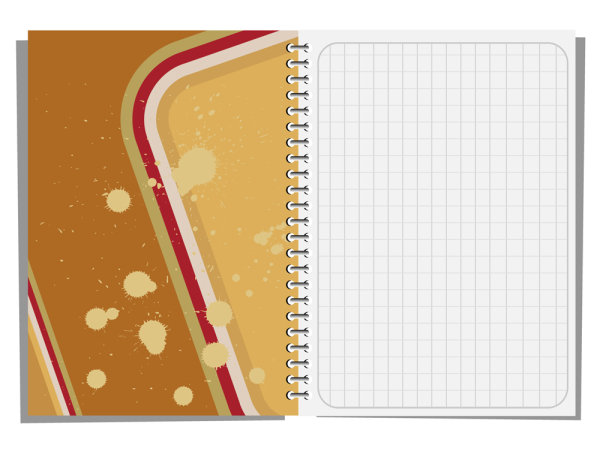 Notepad design elements vector 03