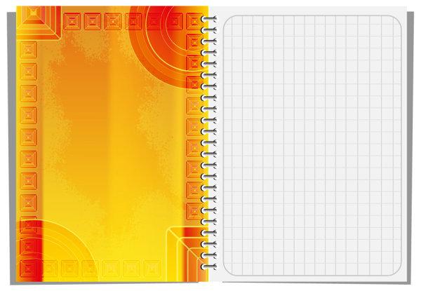 Notepad design elements vector 02