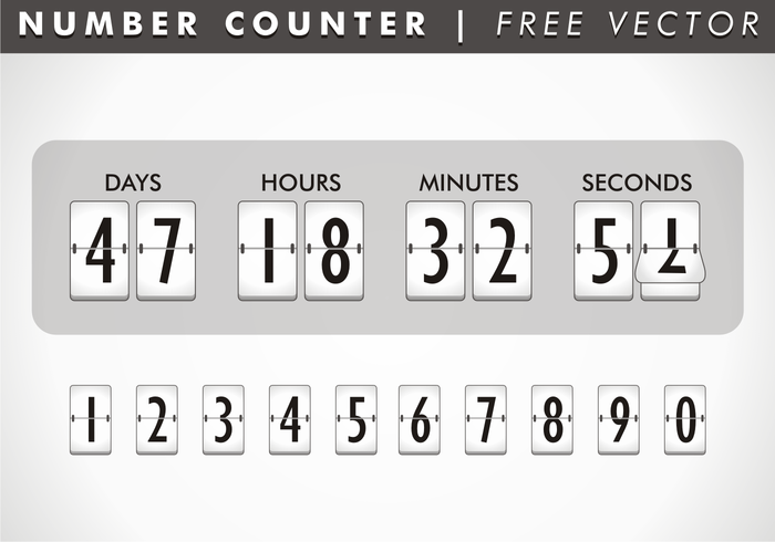 Number Counter Free Vector – Download Free Vector Art, Stock Graphics & Images
