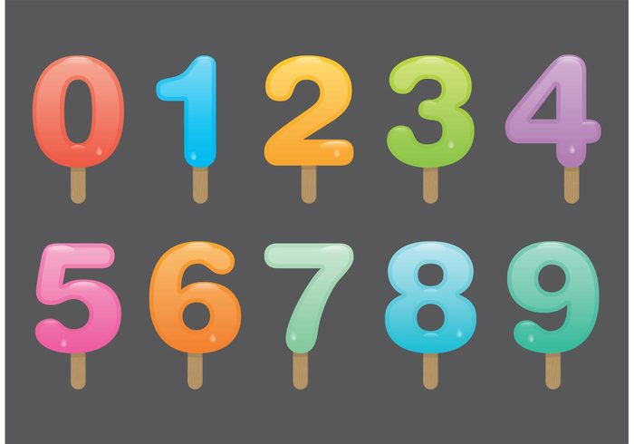 Number Popsicle Vectors – Download Free Vector Art, Stock Graphics & Images