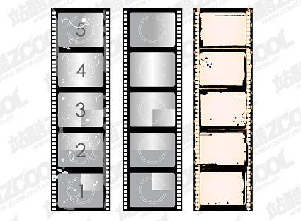 Old film negatives Vector material -2