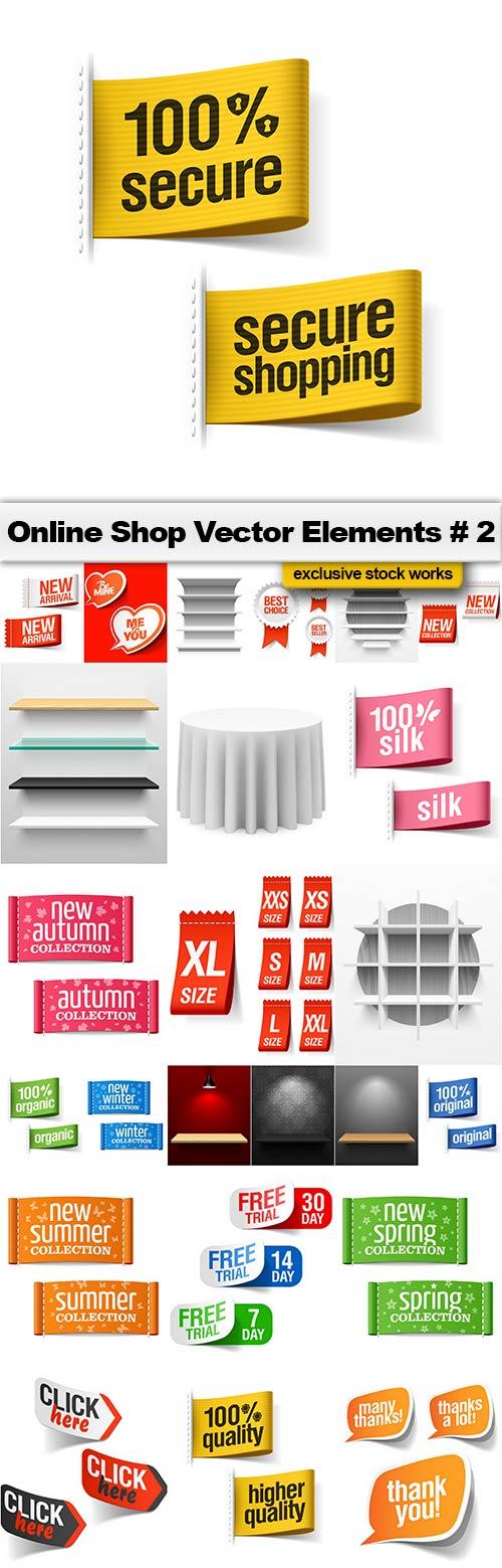 Online Shop Vector Elements #2