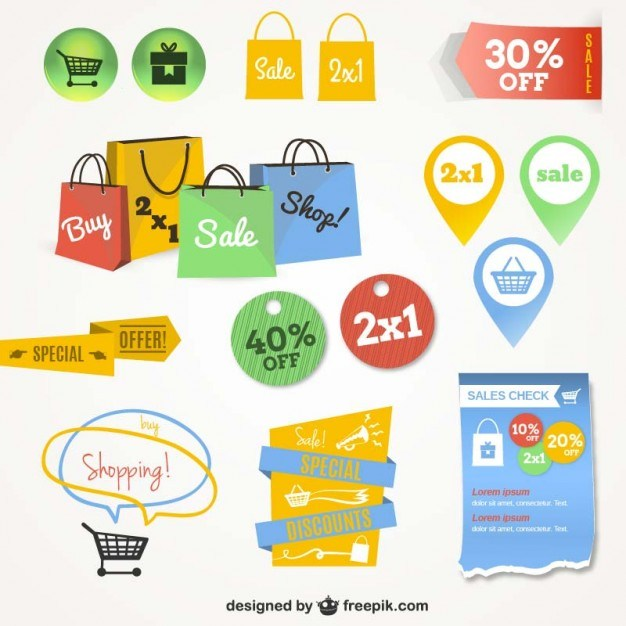 Online shopping interface graphics  Vector | Free Download