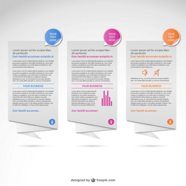 Origami banners infographic   Vector | Free Download