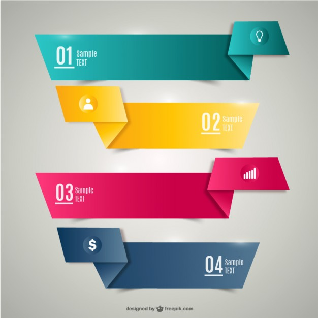 Origami banners Vector | Free Download