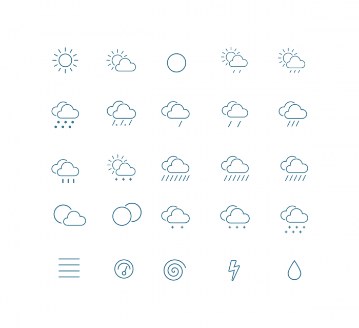 Outline Weather Icons | IconStore
